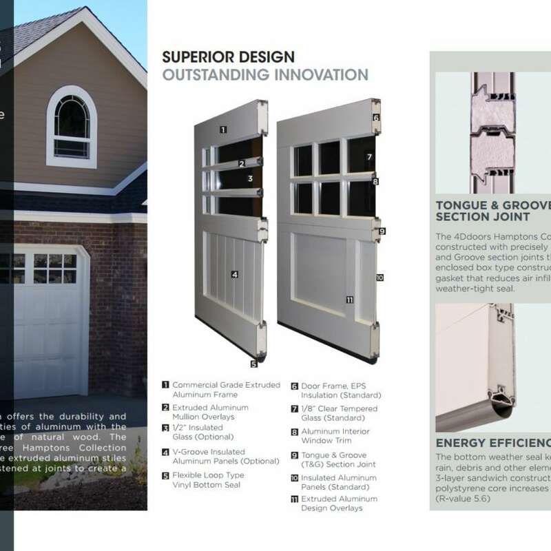 4Ddoors Hamptons Sectional Door Brochure