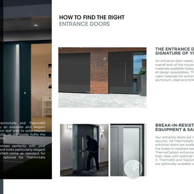 4Ddoors ThermoCarbon, Safe, 65 & TopComfort Entrance Doors Brochure